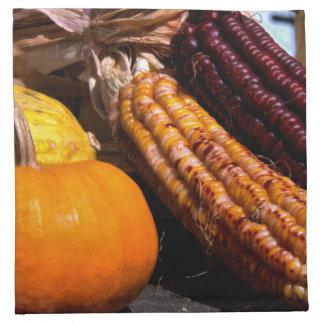 Indian Corn and Pumpkin Napkin