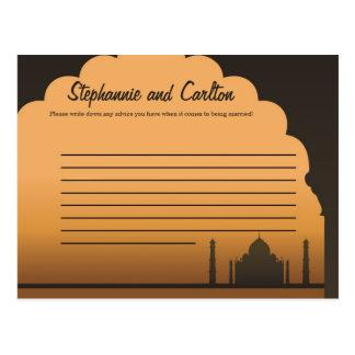 Indian Dream Wedding Writable Advice Card Post Cards