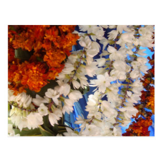 Indian Flower Garlands Post Cards