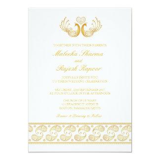 Indian Gold Pattern Modern Wedding Invitation