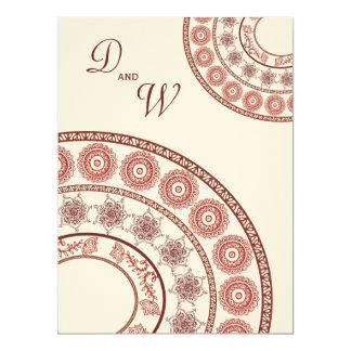 "Indian Henna Mehendi Wedding Invitation 6.5"" X 8.75"" Invitation Card"