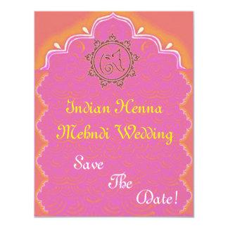 indian henna mehndi wedding card