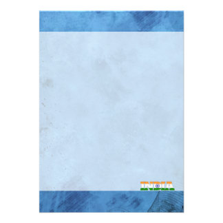 Indian name and flag on cool wall 13 cm x 18 cm invitation card