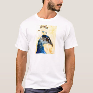 Indian Peafowl 721 design by Schukina T-Shirt