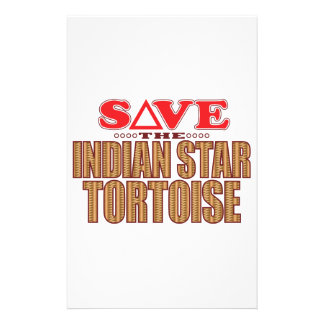 Indian Star Tortoise Save Stationery