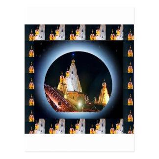 Indian Temple : Diwali Decorations Postcards