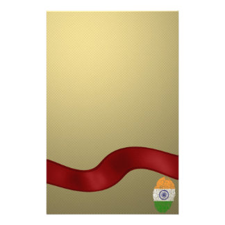 Indian touch fingerprint flag stationery