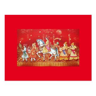 indian wedding card postcard