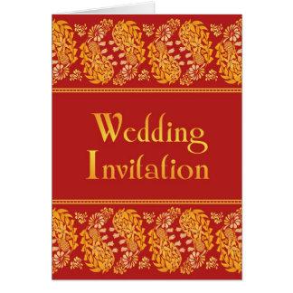 Indian Wedding Folded Card Invitation