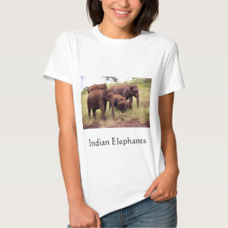 Indian wild elephants t-shirts