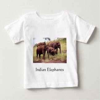 Indian wild elephants tee shirts