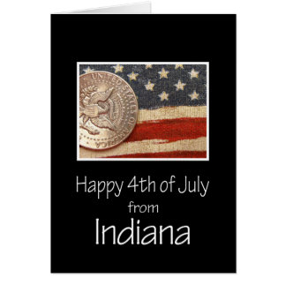 Indiana  Happy 4th of July Card