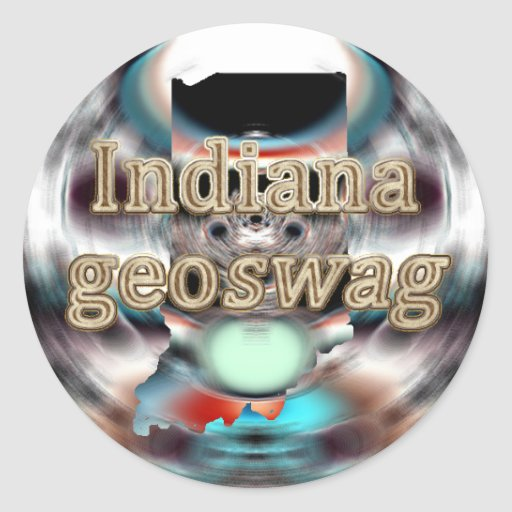 Indiana State Geocaching Supplies Stickers Geoswag