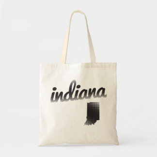 Indiana State Halftone Tote Bag