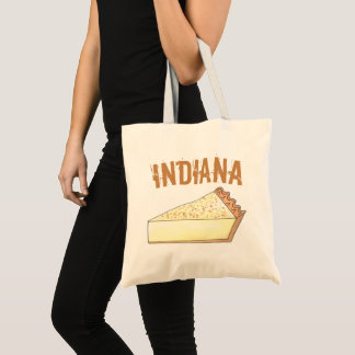 Indiana Sugar Cream Farm Pie Slice Foodie Dessert Tote Bag