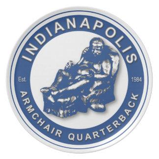 Indianapolis Armchair Quarterback Plate