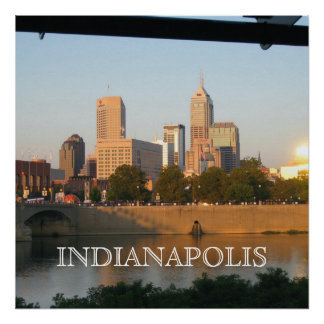 INDIANAPOLIS EVENINGS POSTER
