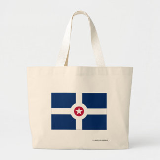 Indianapolis Flag Large Tote Bag