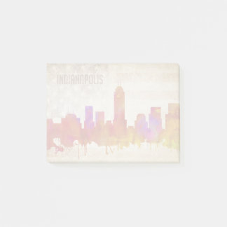 Indianapolis, IN | Watercolor City Skyline Post-it Notes