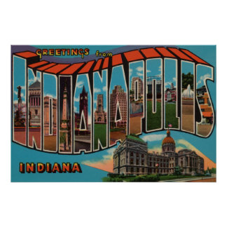 Indianapolis, Indiana (Capital Building) Poster
