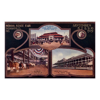 Indianapolis Indiana Indiana State Fair Poster