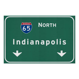 Indianapolis Indiana Interstate Highway Freeway : Poster