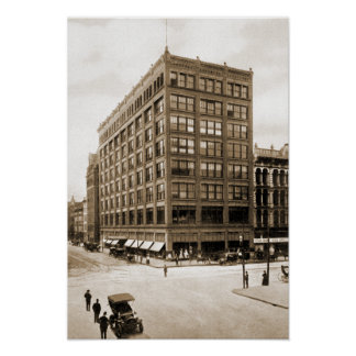 Indianapolis Indiana LS Ayres Department Store Poster