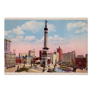 Indianapolis, Indiana Monument Circle Poster