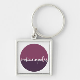 Indianapolis, Indiana   Purple Ombre Circle Key Ring