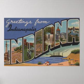 Indianapolis, Indiana (Steel Mills/Sand Dunes) Poster