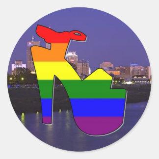 Indianapolis Pride Classic Round Sticker