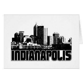 Indianapolis Skyline Card