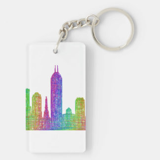 Indianapolis skyline key ring