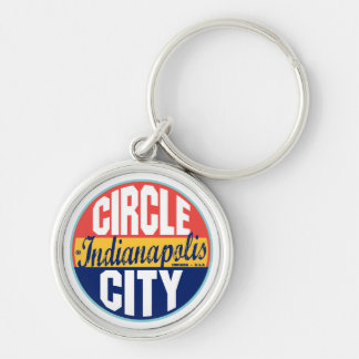 Indianapolis Vintage Label Key Ring