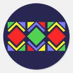 Indianisches Muster Native American pattern Runder Sticker