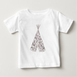 INDIANS - TEPEE - made of little native Americans Tshirts