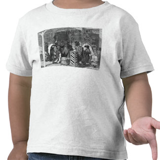 Indians Trading at a Frontier Town Shirts