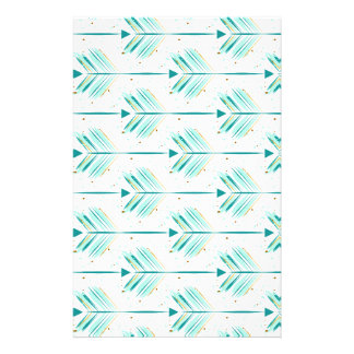 Indie arrow pattern stationery
