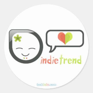Indie Trend Round Stickers