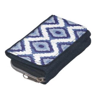 Indigo Blue Tribal Ikat Diamond White Chevron Wallet