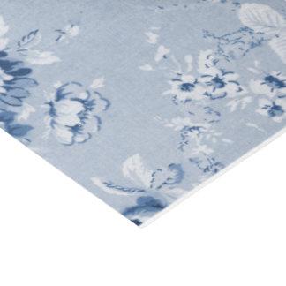 Indigo Blue Vintage Floral Toile No.4 Tissue Paper