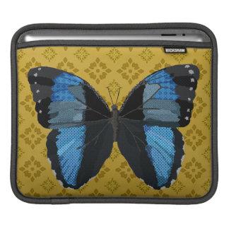 Indigo Boho Butterfly Gold Damask  iPad Sleeve