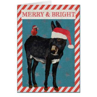 INDIGO DONKEY & BIRD Christmas CARD