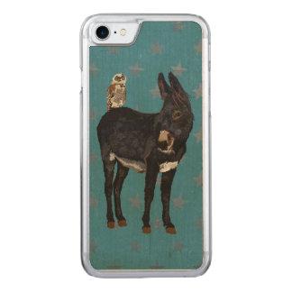 INDIGO DONKEY & COPPER OWL CARVED iPhone 7 CASE