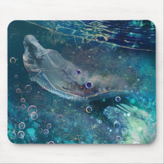 Indigo Mystique Underwater Mermaid Mouse Pad