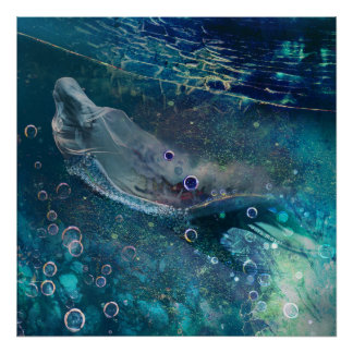 Indigo Mystique Underwater Mermaid Poster