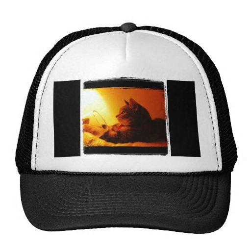 Indigo's Wine Glass Mesh Hat