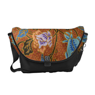 Indonesian Floral Batik Commuter Bag