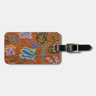 Indonesian Floral Batik Luggage Tag