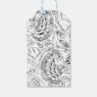 Indonesian Plants and Animals Textile Gift Tags